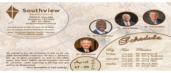 2018 Bible Conference; Saturday, Session One, 6:00 pm